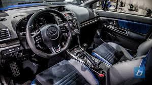 subaru wrx custom interior subaru wrx sti officially breaks cover