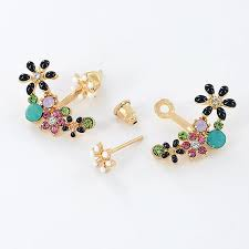 front to back earrings front back earrings cz studs from surewaydm
