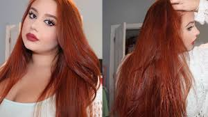 dying red hair light brown how to dye your hair copper red from medium dark brown youtube