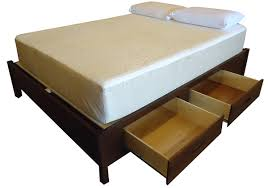 Queen Size Platform Bed - basic queen size wood storage platform bed