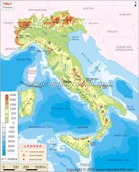 Map Of Southern Italy by Italy Physical Map Physical Map Of Italy
