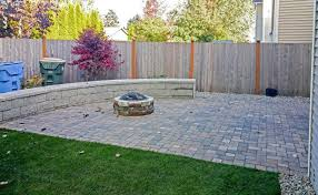 Backyard Pavers Diy Fire Pits Design Magnificent Paver Patio With Fire Pit Using