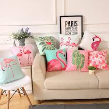 aliexpress com buy supersoft velvet flamingo pillow cover home