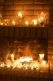 Large Candle Holders For Fireplace by Dazzling Fireplace Candles White Color Stone Wall Surround Hanging