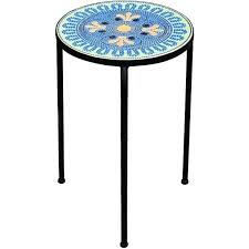 Patio Accent Table Mosaic Accent Table Hism Co