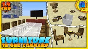 minecraft working furniture in one command no mods 1 10