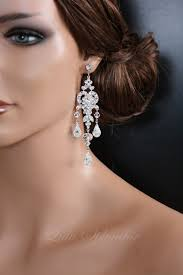 bridal chandelier earrings chandelier wedding earrings swarovski bridal earrings