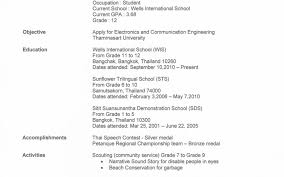 first resume sle for a highschool student amusing sle high resume templatent australia in exles