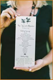 programs for a wedding ceremony wedding ceremony program notary letter