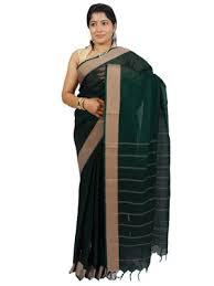 Buy Green Plain Cotton Silk Green Narayanpet Cotton Handloom Plain Saree Buy Online At Best
