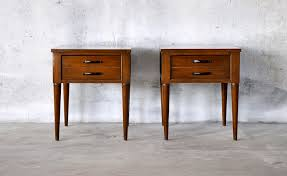 Danish Modern Furniture Legs by Two Mid Century Modern Nightstands How To Keep Mid Century