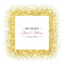 save the date baby shower wedding template with golden confetti theme ideal for