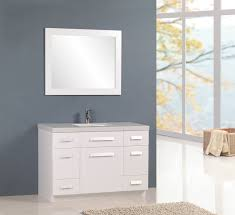moscony 48 inch white single sink bathroom vanity set