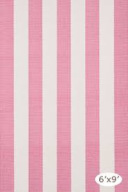 Woven Rugs Cotton Yacht Stripe Pink White Woven Cotton Rug The Outlet