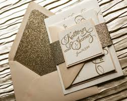 wedding invitations gold coast glitter glam rustic wedding invitations by flairnecessities