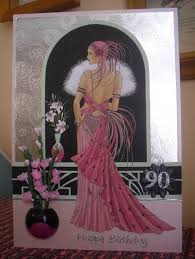 art deco 90th birthday card commisioned docrafts com