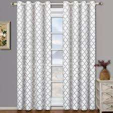 Linen Curtain Panels 108 108 Curtains Semiopaque Fez Grey And Tan Grommet Blackout Curtain