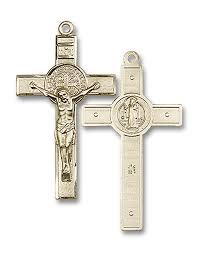 st benedict crucifix benedict medal 14k crucifix large