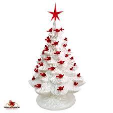 ceramic christmas tree with lights white ceramic christmas tree 16 inch of pearl with