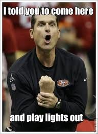 Jim Harbaugh Memes - jim harbaugh meme the key play