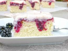 Halloween Poke Cake by Blackberry And White Chocolate Poke Cake I Am Baker