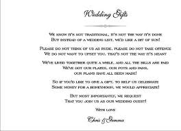 wedding gift quotes for money wedding invitation poem paperinvite