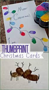 make these easy thumbprint christmas cards christmas cards