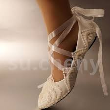 wedding shoes size 12 white ivory pearls lace wedding shoes flat ballet bridal