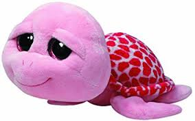 amazon ty beanie boos shellby pink turtle large plush toys