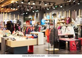 fashion boutique blurred showcases fashion boutique sportswear blurred stock photo