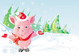 christmas pig christmas pig stock vector illustration of snow year 11620906