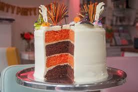 Pics Of Halloween Cakes by Halloween Stripey Cake
