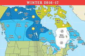 2016 2017 range weather forecast for u s and canada