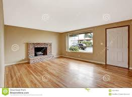 Living Room With Fireplace by Empty House Interior Living Room With Fireplace Stock Photo