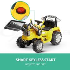 kids ride on bulldozer loader digger tractor car excavator