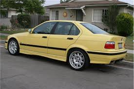 bmw e36 m3 4 door 1997 bmw m3 dakar yellow 4 door stick sold