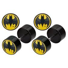 batman earrings batman logo faux earrings