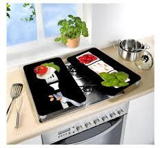 plaque de cuisine 2 couvre plaques de cuisson universels tomate mozza basilic