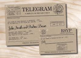 telegram wedding invitation vintage telegram wedding invitation and response card rsvp
