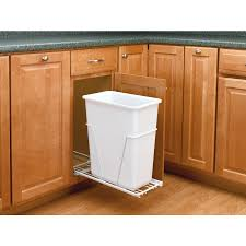 Kitchen Cabinet Trash Can Under Sink Pull Out Garbage Can Home Design And Decor