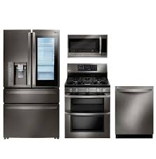 Kitchen Appliances Lg Black Stainless Steel Series Black Stainless Steel Appliances