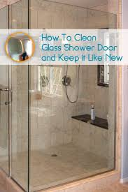 Bathroom Shower Door Ideas Best 25 Cleaning Glass Shower Doors Ideas On Pinterest Cleaning