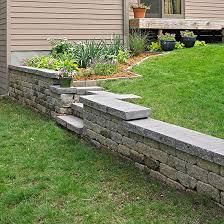 Front Yard Retaining Walls Landscaping Ideas - stone wall ideas