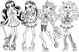 coloring page monster high coloring pages pdf coloring page and