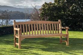 Teak Garden Benches Kingston 6ft Fsc Teak Garden Bench U0026 Table Set Hayes Garden World