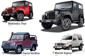 gypsy jeep mahindra thar vs force gurkha vs maruti gypsy face off of the off