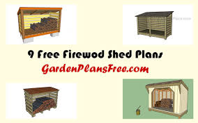 Diy Firewood Shed Plans by 9 Free Firewood Storage Shed Plans Free Garden Plans How To