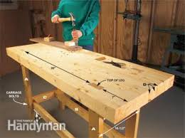 Plans For Building A Woodworking Bench by Build A Work Bench On A Budget Family Handyman