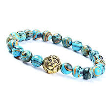 blue stone bracelet images Natural stone bracelet morbuy 8mm stone agate bracelet bangle jpg