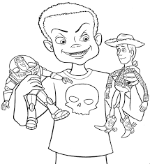 pic of woody from toy story coloring page free download